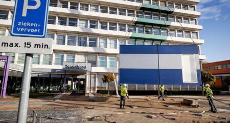 Plaatsing noodgebouwen St Jans Gasthuis
