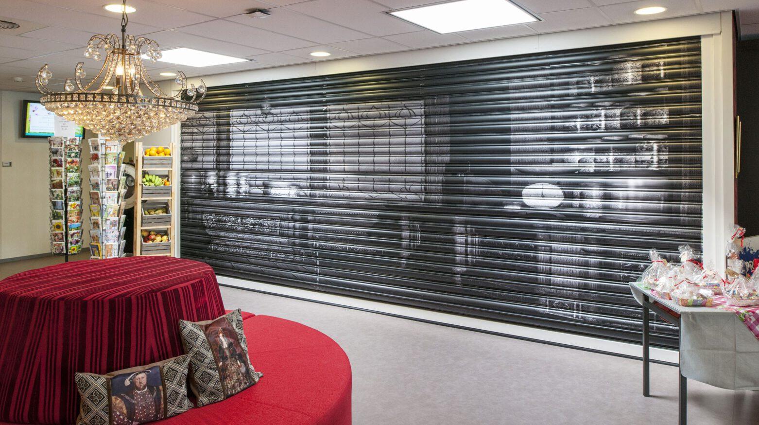 Tantelouise vivensis shop met gesloten luifel