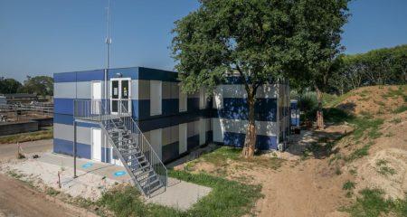 Engie rioolwaterzuiveringsinstallatie RWZI van Stein vooraanzicht omgeving